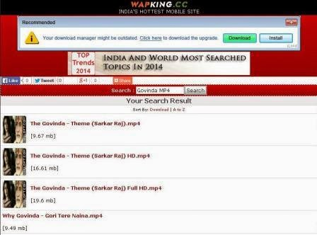 Wapking.cc Situs Download Video India lewat HP