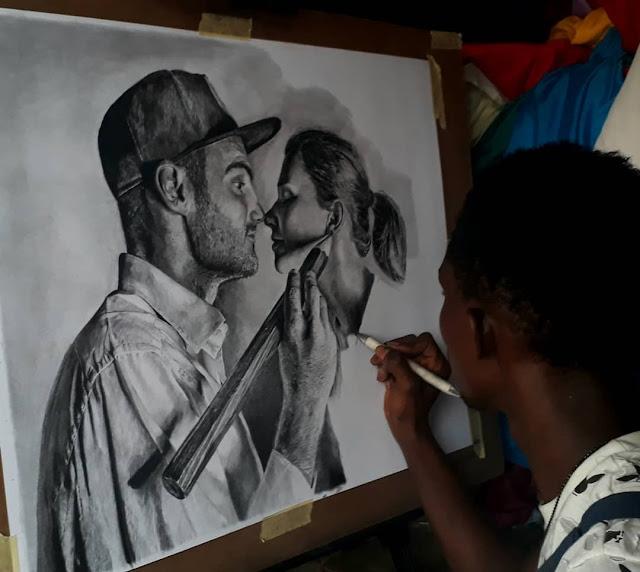 Portrait of Artist Ben Heine and Marta Heine by Olamide Ogunade (OliscoArt)