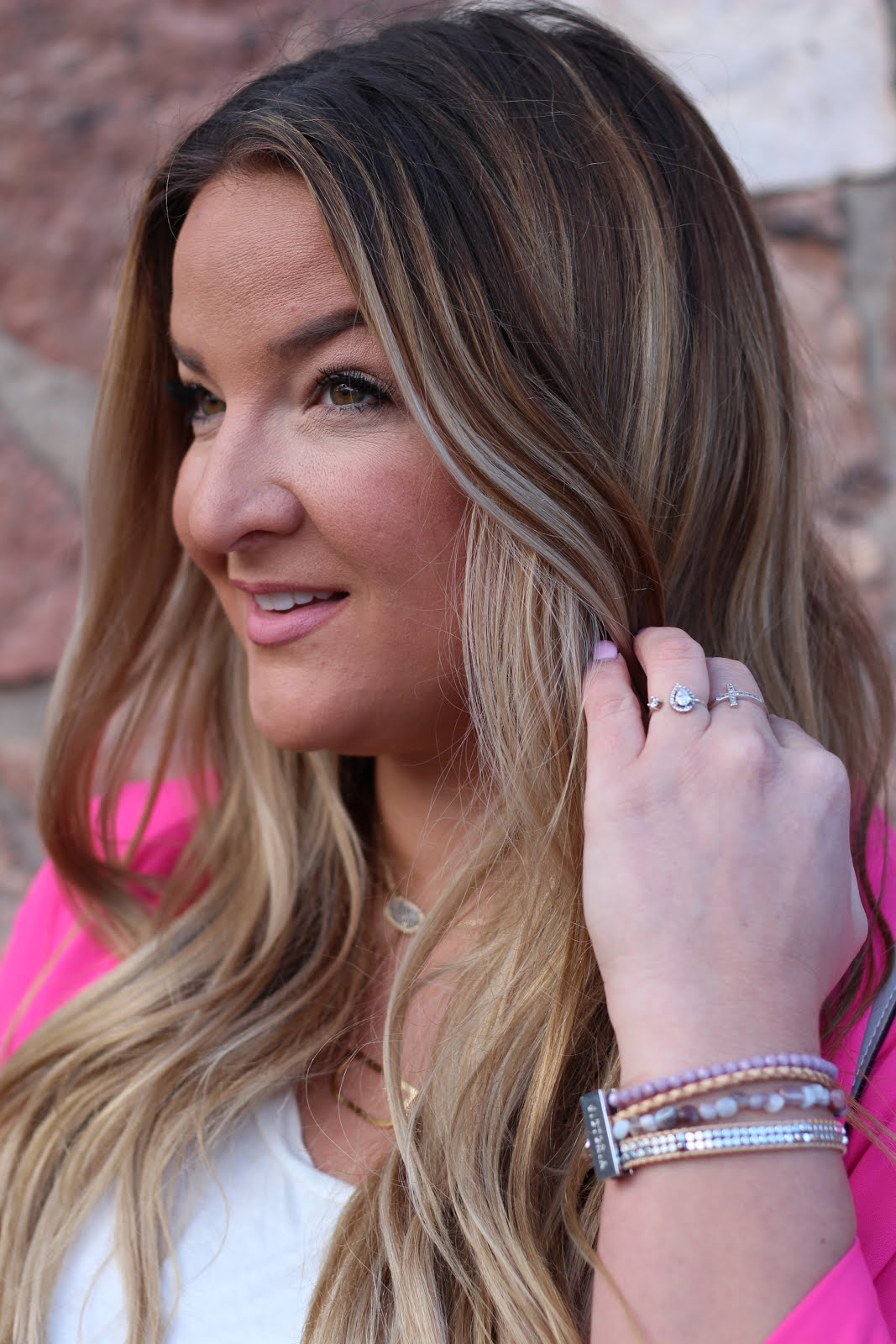 Pretty in a Pink Blazer & Camo by popular Denver fashion blogger Delayna Denaye