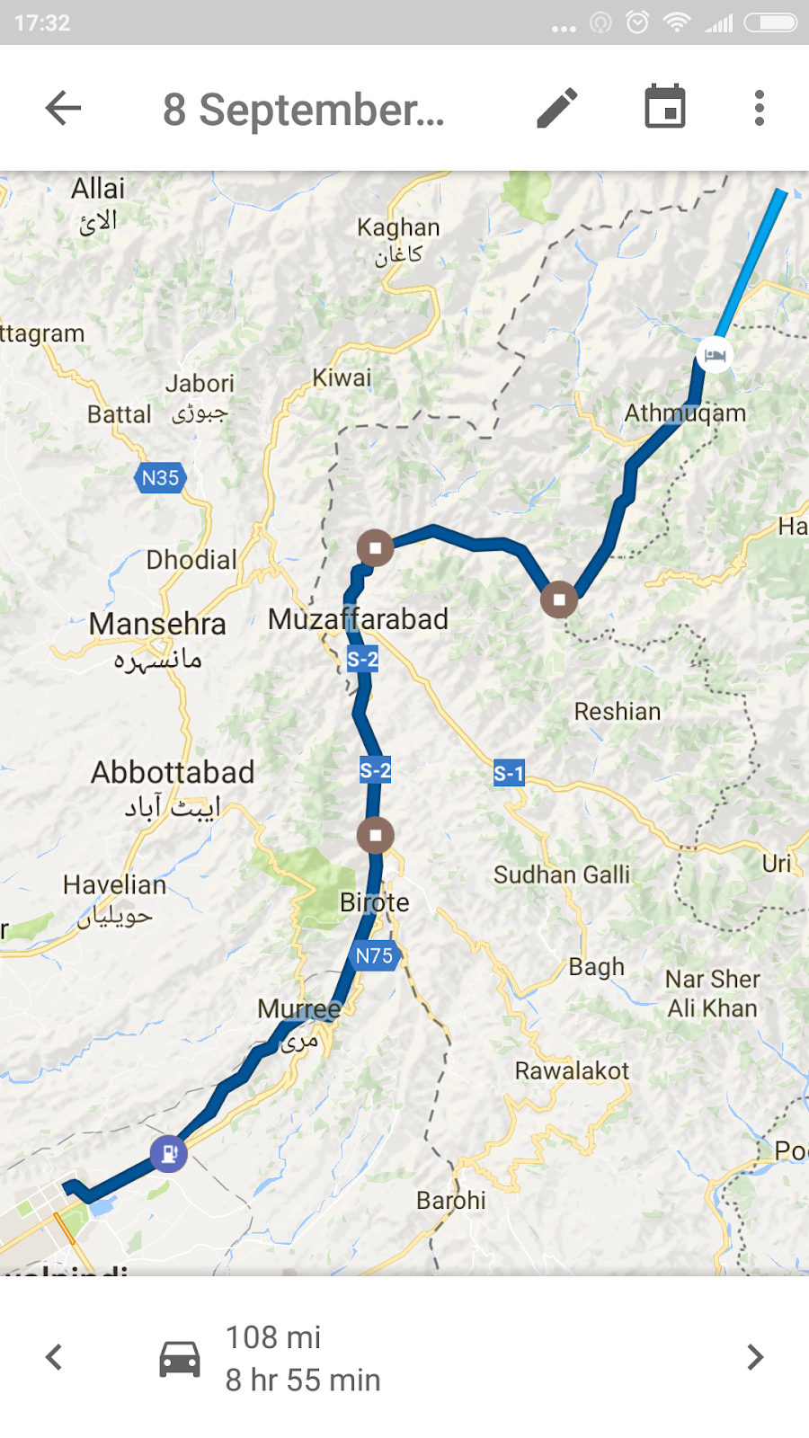 islamabad to ratti gali map