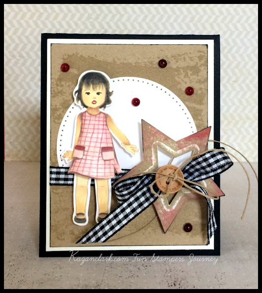 Vintage Style Americana Card using Paper Doll