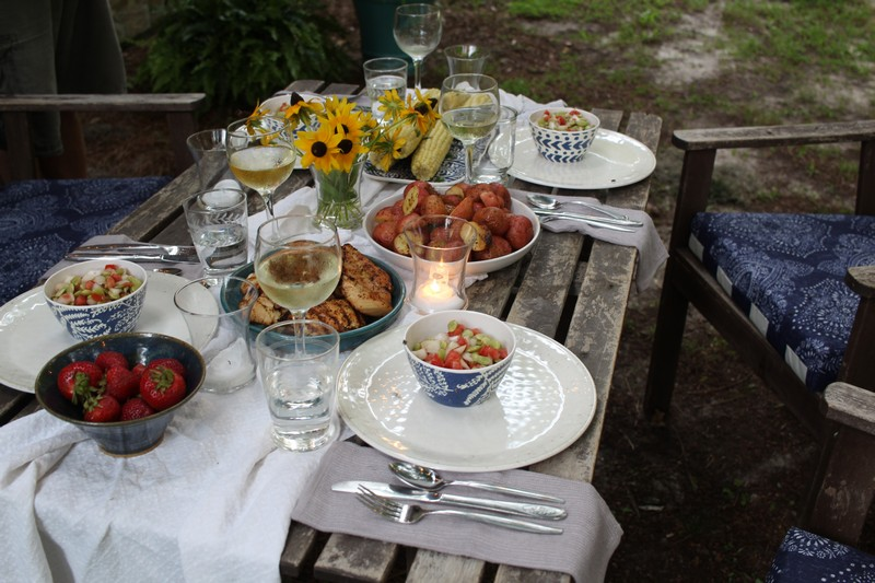 Outdoor summer dinner