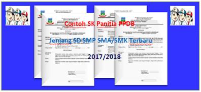 Contoh SK Panitia PPDB Jenjang SD SMP SMA/SMK terbaru 2021/2022