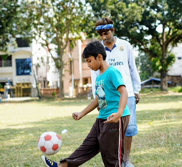 Sourajit Saha and Rick Playing Football 7