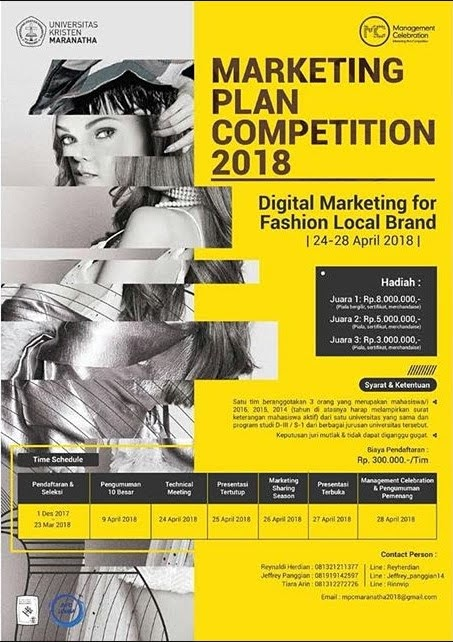 Lomba Marketing Plan Competition 2018 Univ. Kristen Maranatha