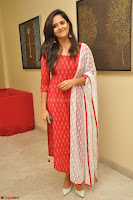 Anasuya Bharadwaj in Red at Kalamandir Foundation 7th anniversary Celebrations ~  Actress Galleries 004.JPG