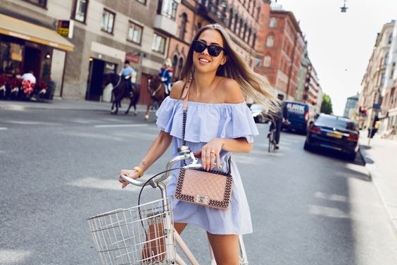 Kenza Zouiten Chanel Pink Boy Bag + Off Shoulder Dress