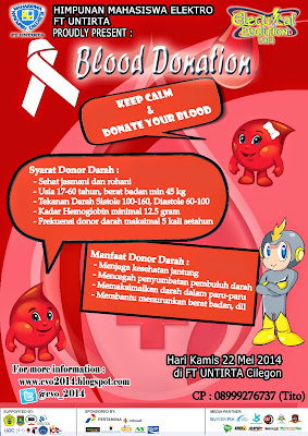 Donor Darah (blood donation) On  Electrical Evolution (E-VO) 2014