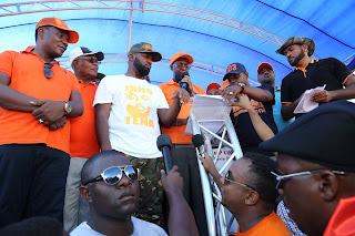 Mombasa Governor Hassan Joho at a press briefing session. PHOTO | Courtesy