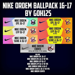 Nike Ordem Ballpack 2016-2017 Pes 2013 By Goh125
