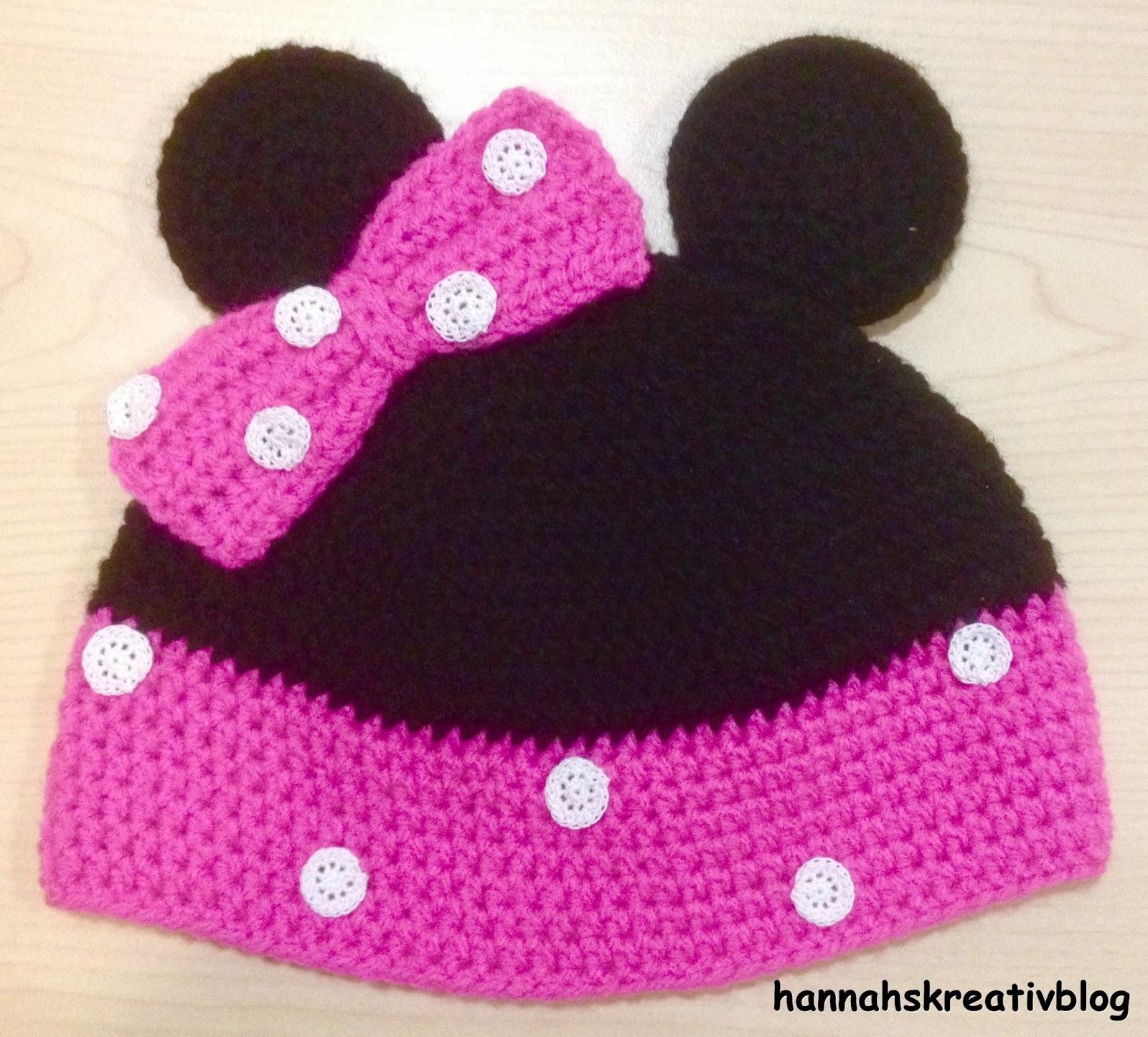 Hannahs Kreativblog Minnie Maus Mütze
