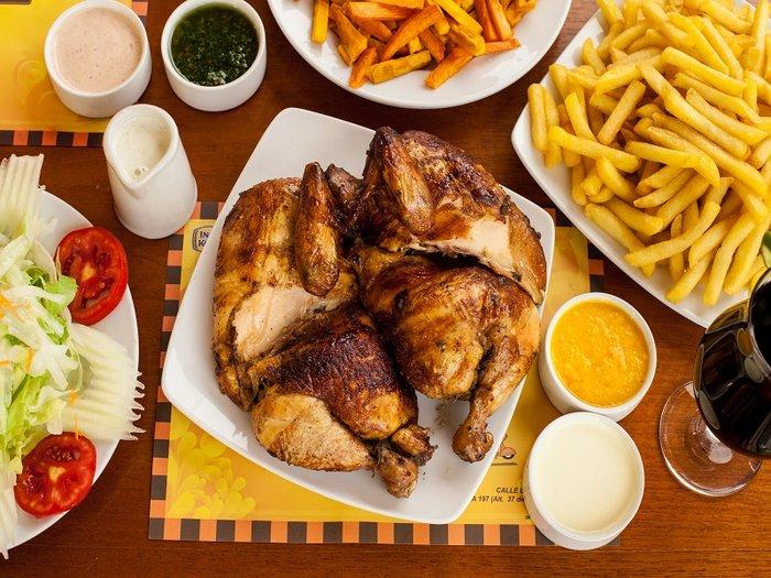 Pollo a la brasa... divine pleasure!!!!!   Gringo Peru