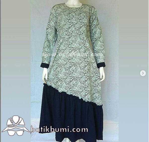 Batik Gamis Motif Ukel Pethak