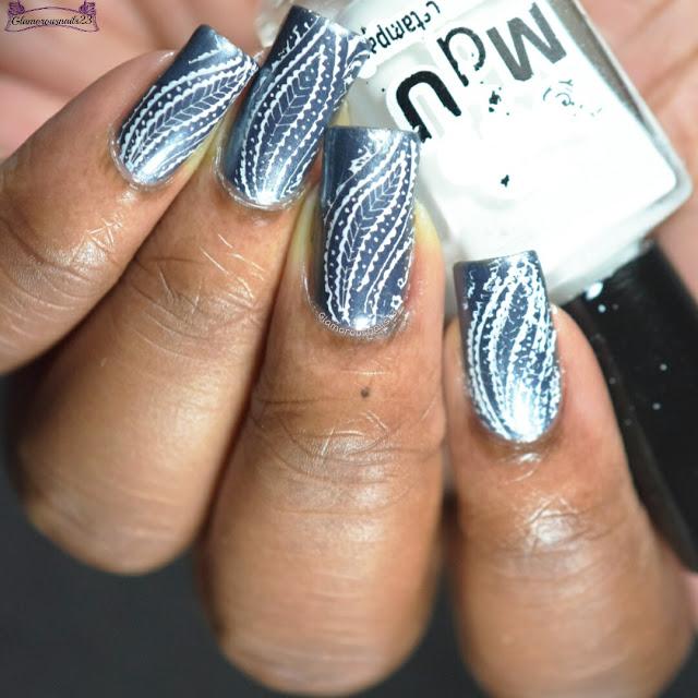 Gunmetal & White Stamping