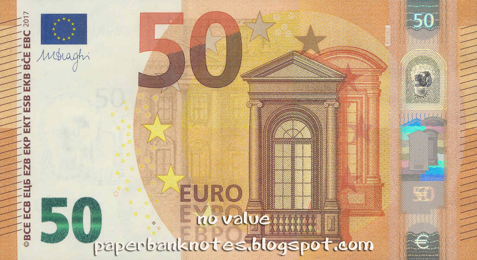 hybrid paperbanknotes european union 50 euro 2017 hybrid notes. Black Bedroom Furniture Sets. Home Design Ideas