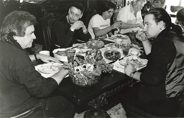 u2 and johnny cash eating