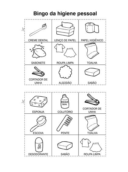 Bingo da Higiene Pessoal