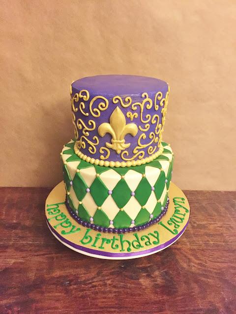 Cakes By Mindy Mardi Gras Birthday Cake 6 Quot Amp 8 Quot