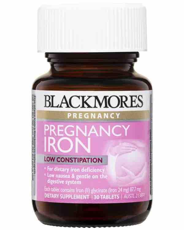 Blackmores Pregnancy Iron 30 - Viên uống bổ sung sắt