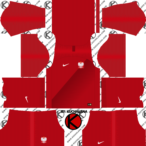 Poland 2018 World Cup Kit -  Dream League Soccer Kits