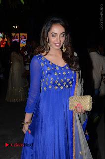 Telugu Actress Tejaswi Madivada Pos in Blue Long Dress at Nanna Nenu Na Boyfriends Audio Launch  0072.JPG