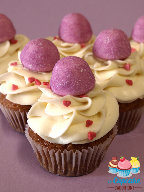 De délicieux Cupcakes régressifs parfumés aux bonbons de notre enfance : les fraises Tagada et les bananes Bams Haribo®