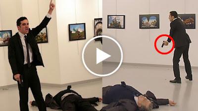 فيديو لشاب يقتل السفير الروسي على الهواء انتقام للسوريين