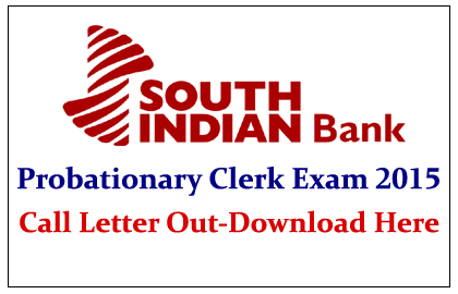 South Indian Bank Probationary Clerk Exam 2015