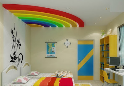 kids room false ceiling POP designs