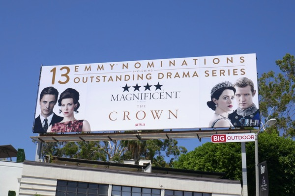 Crown season 2 Emmy nominee billboard