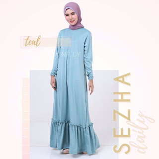 Gamis Amily Sezha Dress Teal