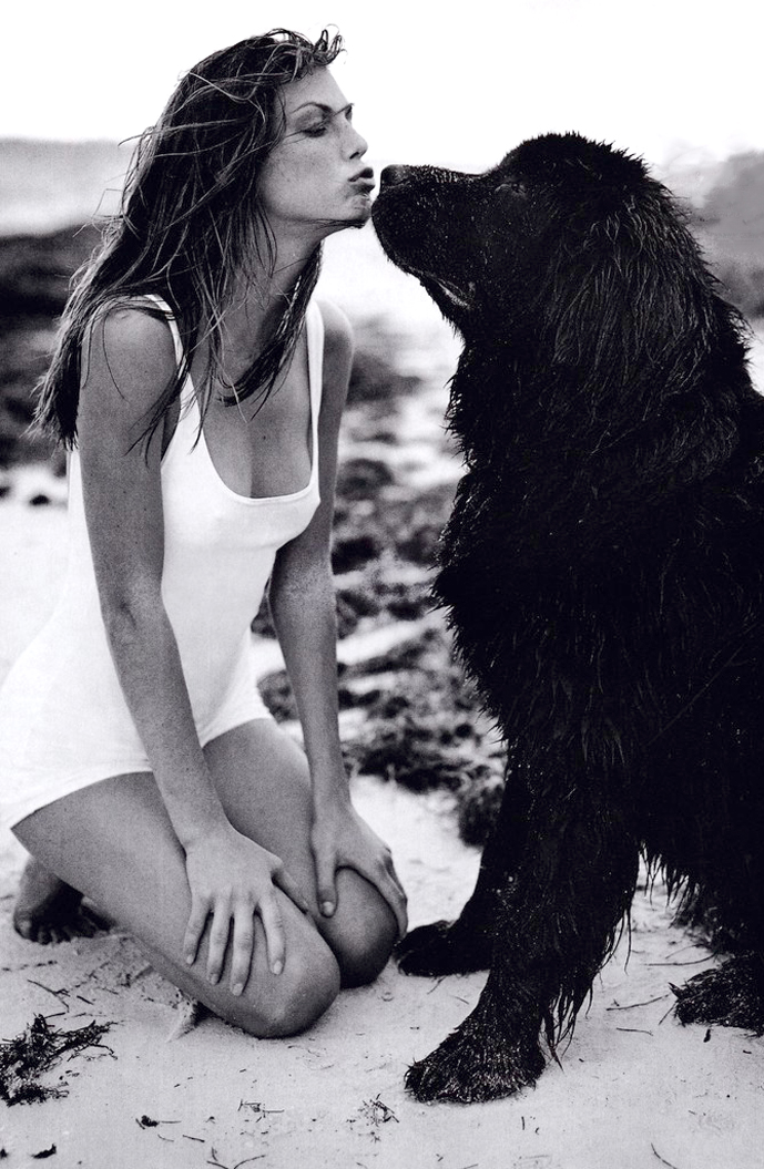 Angela Lindvall photographed by Bruce Weber for Vogue US May 1998 via www.fashionedbylove.co.uk