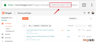 ID blog saya di blogger
