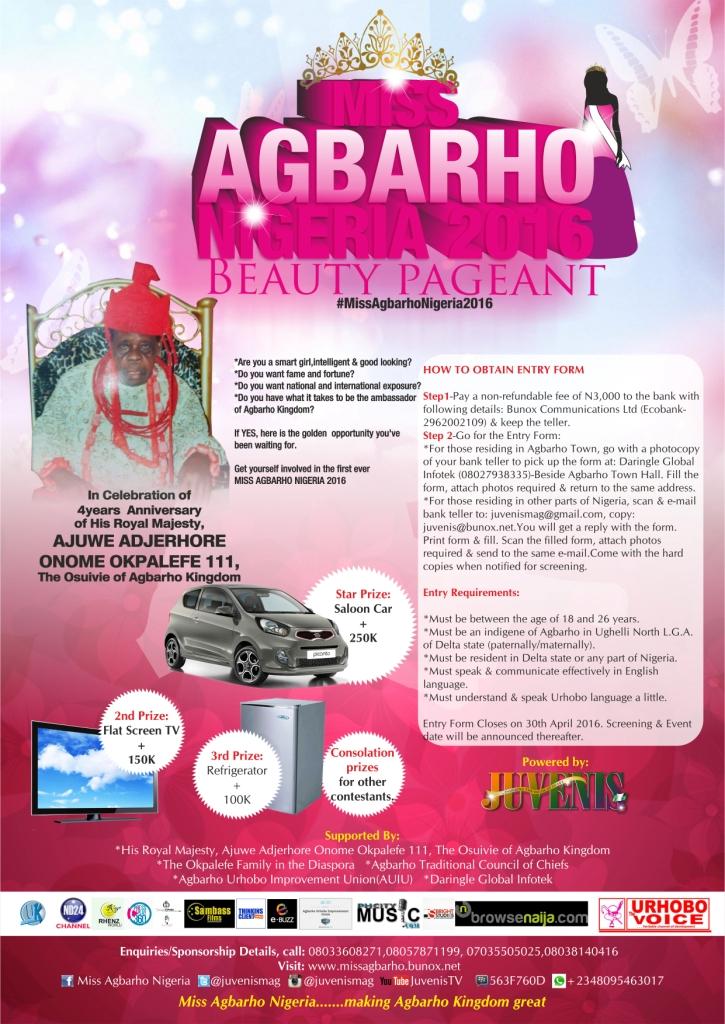 Miss Agbarho Nigeria 2016 ~ Ukalasblog