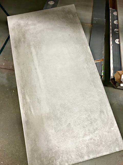 Concrete looking tile