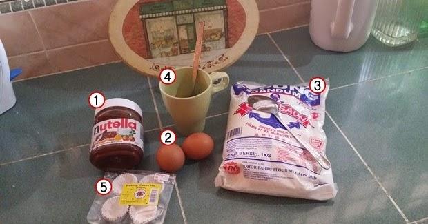 namee roslan resepi brownies nutella Resepi Brownies Guna Tepung Gandum Enak dan Mudah