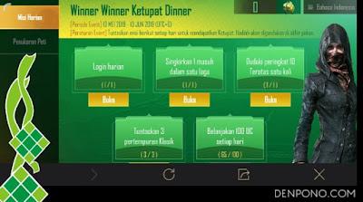 Winner Winner Ketupat Dinner PUBG Mobile Winner Winner Ketupat Dinner PUBG Mobile, Berburu Ketupat Berhadiah Skin Set dan Smartphone
