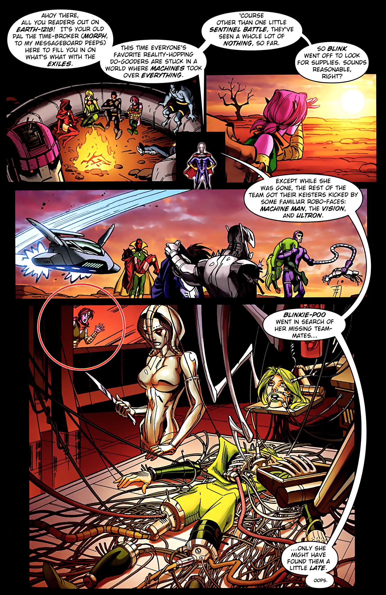 Read online Exiles (2009) comic -  Issue #5 - 3