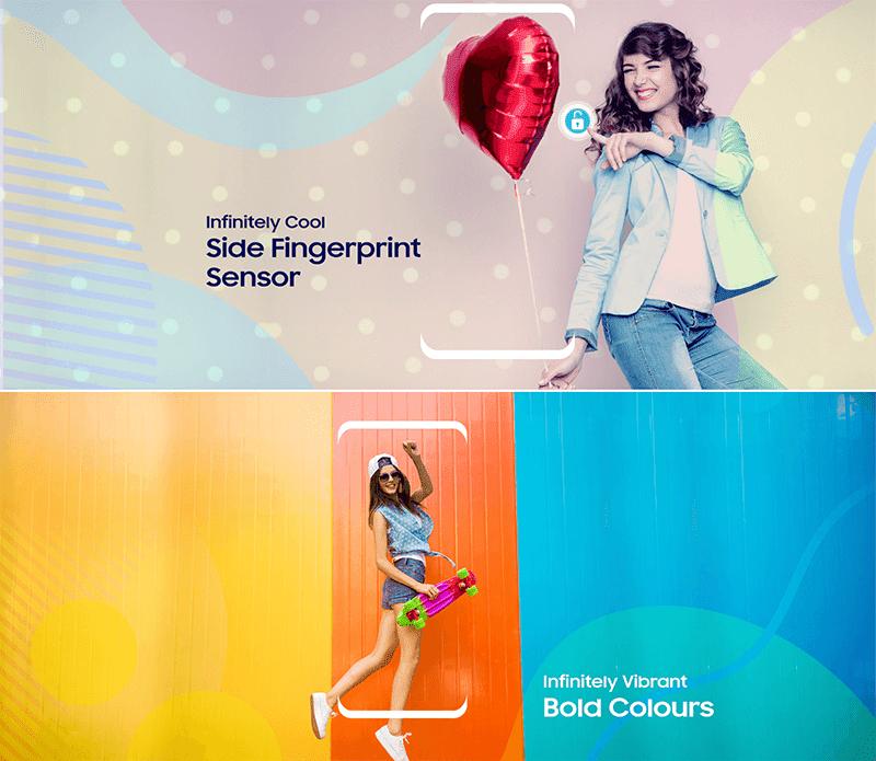Side mounted fingerprint sensor, new colors