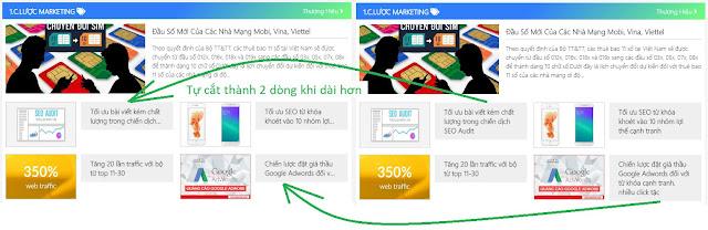 Cắt tiêu đề thành 2,3 dòng với Website/Blogspot