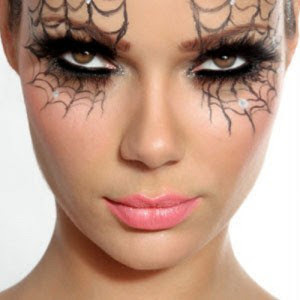 Halloween Make Up Ideas For Teenage Girls 2016 spider web