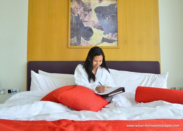 Lady in Royal Continental Hotel Dubai