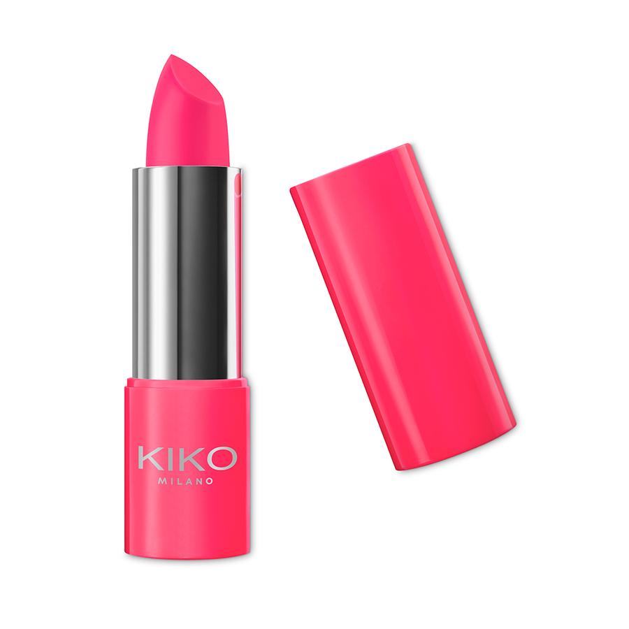 Capsule collection Mayo Active Fluo KIKO MILANO lipstick stronger coral