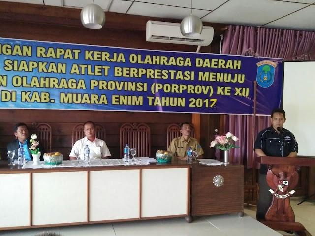 Hadapi Pekan Olahraga Provinsi, Dispora OKI Gelar Rapat Kerja