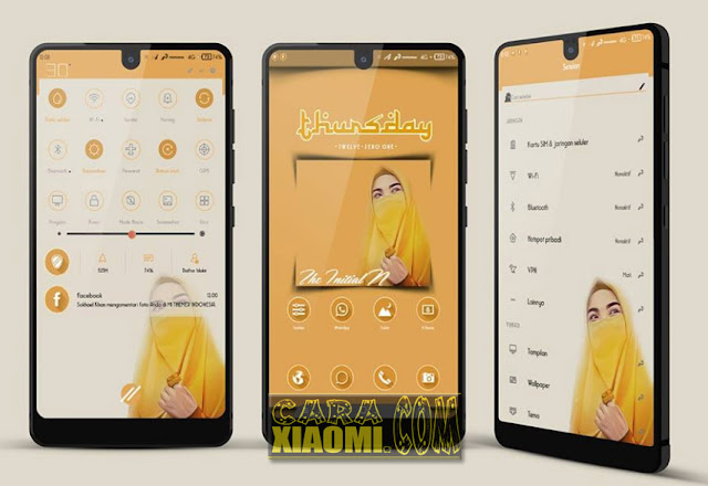 MIUI Theme Initial N Mtz Hijabers Yellow Update Terbaru For MIUI V8 dan V9.5.4.0