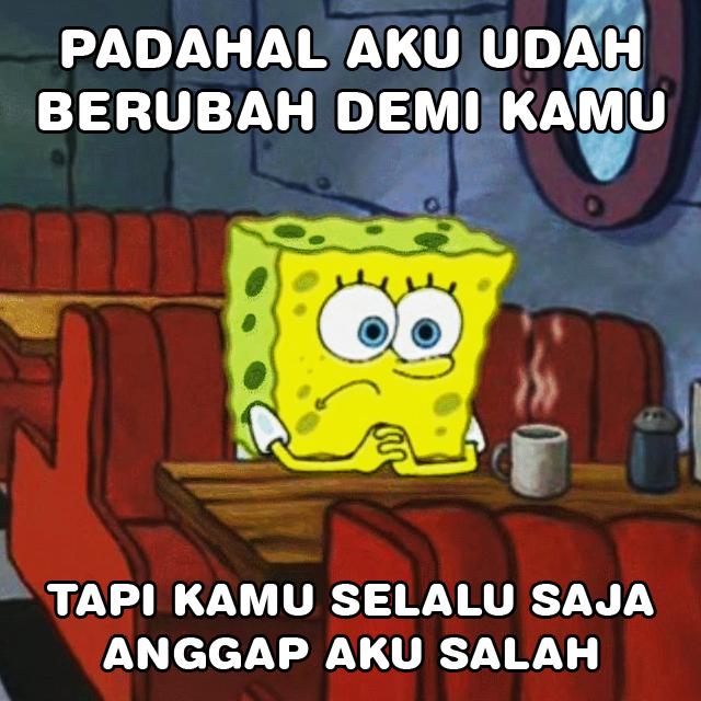 Meme Lucu Spongebob Sedih