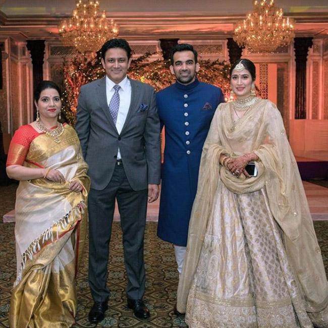 Zaheer Khan and Sagarika Ghatge Royal Wedding Reception ...