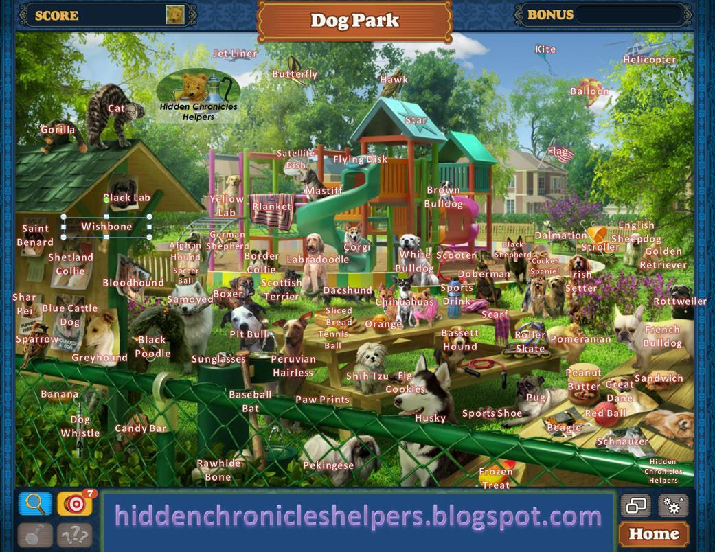 Hidden Chronicles Helpers Dog Park