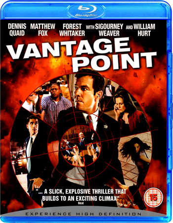 Poster Of Vantage Point 2008 Dual Audio 300MB BRRip 480p Free Download Watch Online
