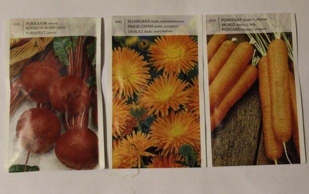 Lisää siemeniä kevään kylvöihin.